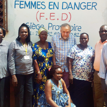 A Bangui, Michel rencontre l'association Femmes en danger